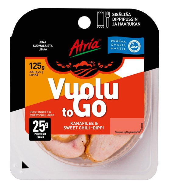 Atria 125g Vuolu to Go Kanafilee & Sweet Chili -dippi