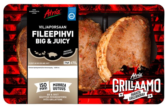Atria 670g Viljaporsaan Fileepihvi Big and Juicy