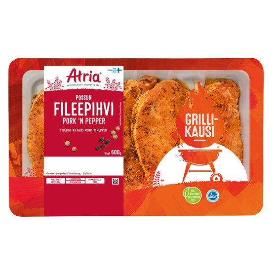 Atria 600g Viljaporsaan Fileepihvi Pork 'n Pepper