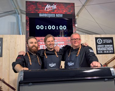 ​Finnish Atria sets Guinness World Record for the longest barbecue marathon