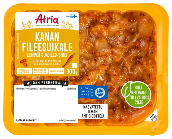 Atria Perhetilan 300g Broilerin Fileesuikale Lempeä Guajillo-chili