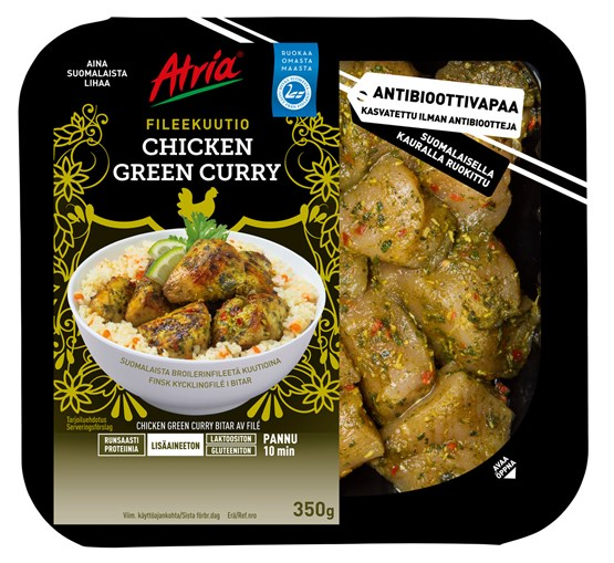 Atria 350g Chicken Green Curry Fileekuutio