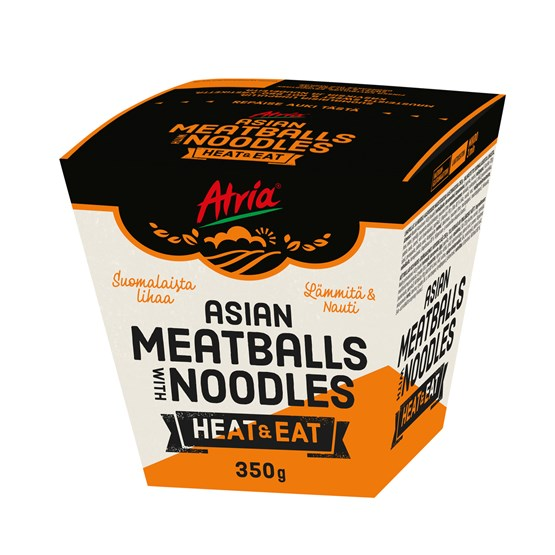 Atria 350g Heat & Eat Asian Meatballs with Noodles