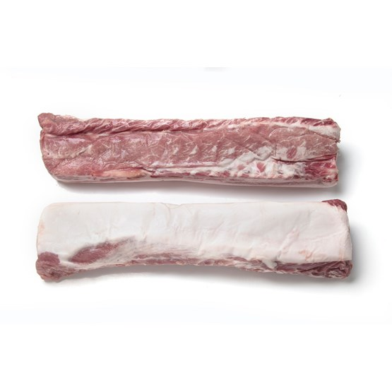 Atria c20kg  Pork Loin with fat and chains boneless vac frozen