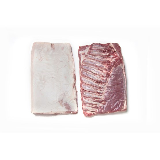 Atria Pork Belly boneless rindless with softbone frozen c17kg