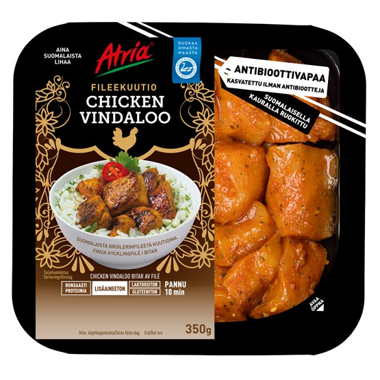 Atria 350g Chicken Vindaloo Fileekuutio