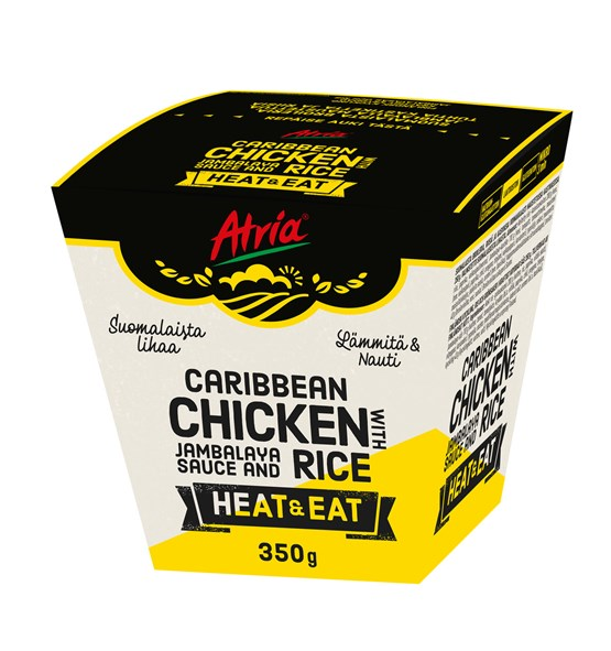 Atria 350g Heat & Eat Caribbean Chicken with Jambalaya Sauce and Rice