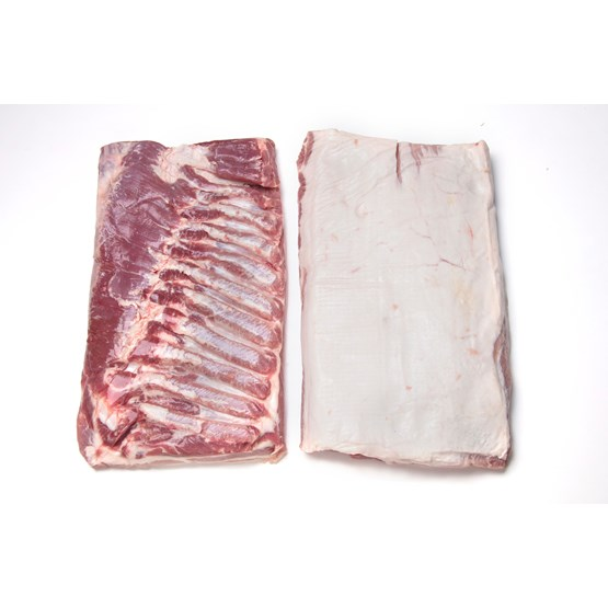 Atria Pork Belly bnlss rindless with softbone frozen c17kg