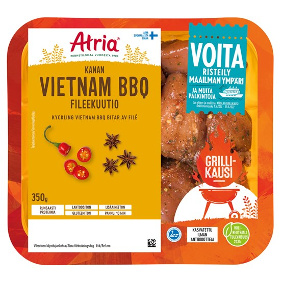 3901_Atria 350g Chicken Vietnam BBQ Fileekuutio