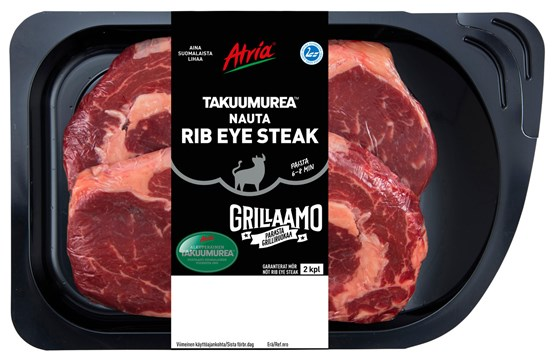 Atria n600g Takuumurea Naudan Rib Eye Steak