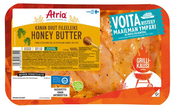 Atria Perhetilan 1000g Honey Butter Kanan Ohut Fileeleike