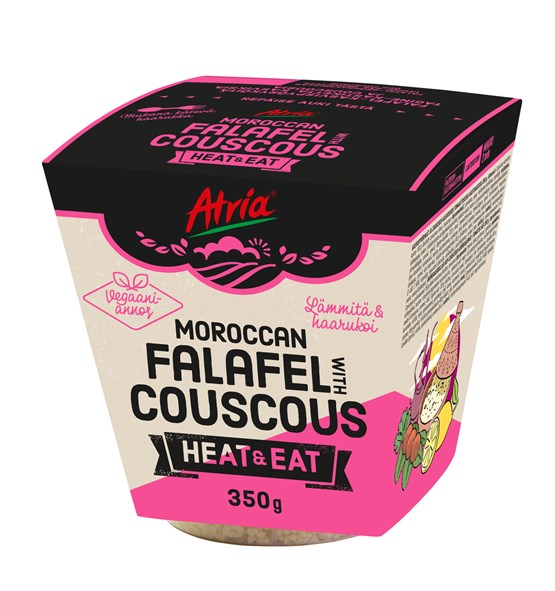 Atria 350g Heat & Eat  Moroccan Falafel with Couscous