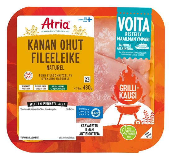 Atria Perhetilan 480g Broilerin Ohut Fileeleike Naturell