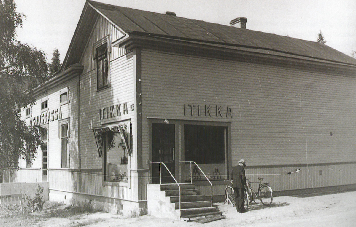 In 1940, Itikka had ten shops of its own. This butcher's shop operated in Alavus.