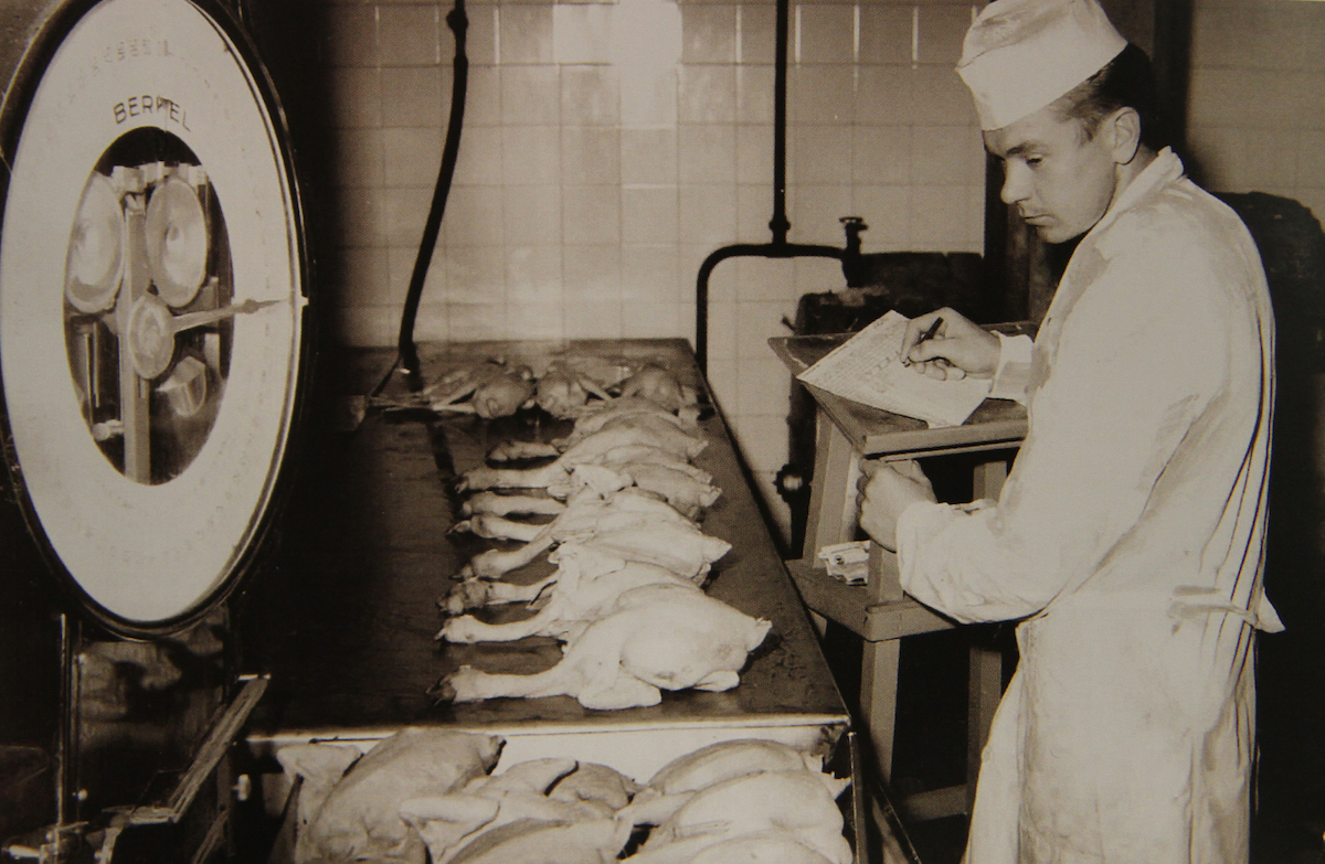 Itikka's poultry slaughterhouse began operating with a production line in 1953.