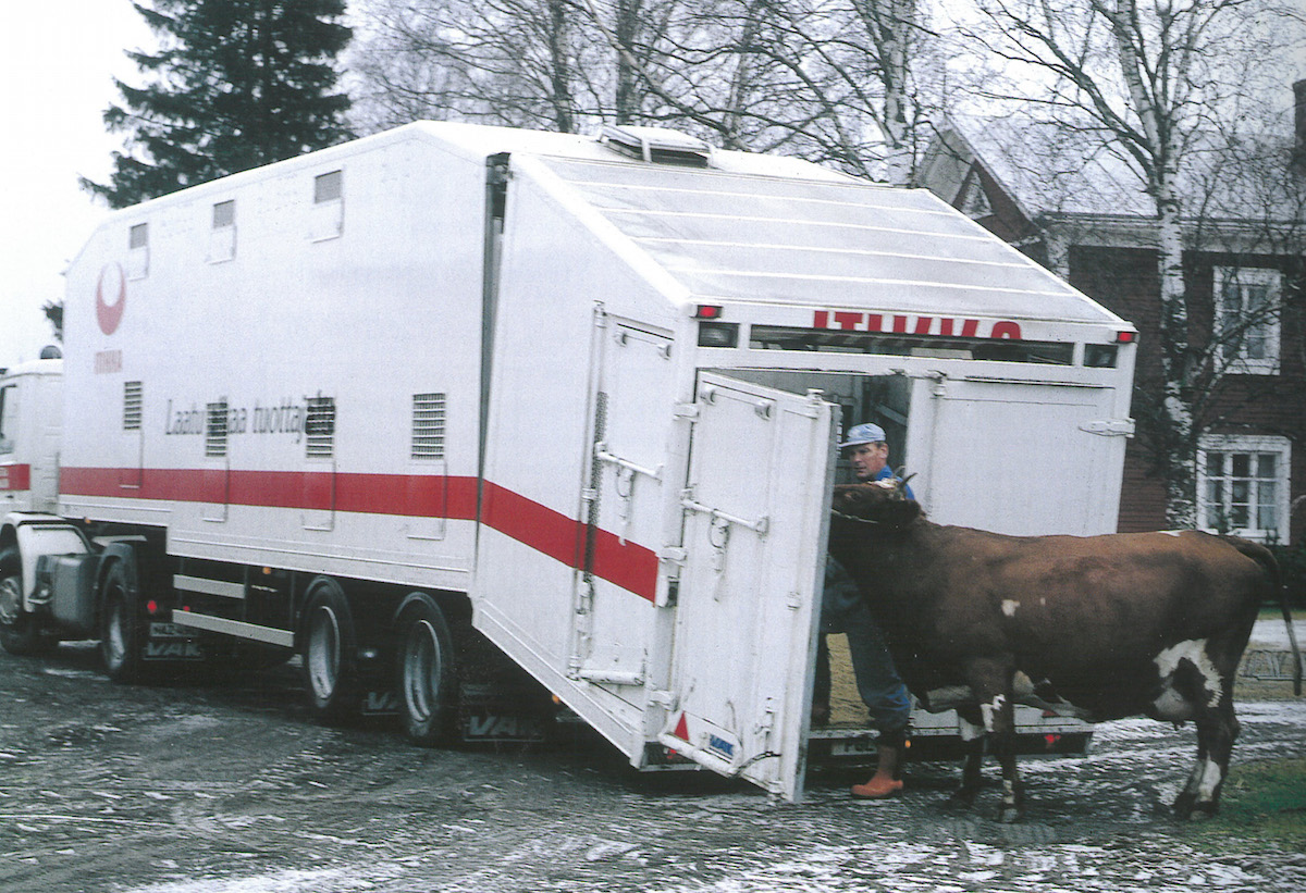 Slaughtered animals have always been transported using the most modern equipment available.